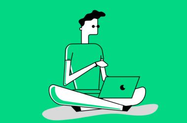 image showing boy holding laptop