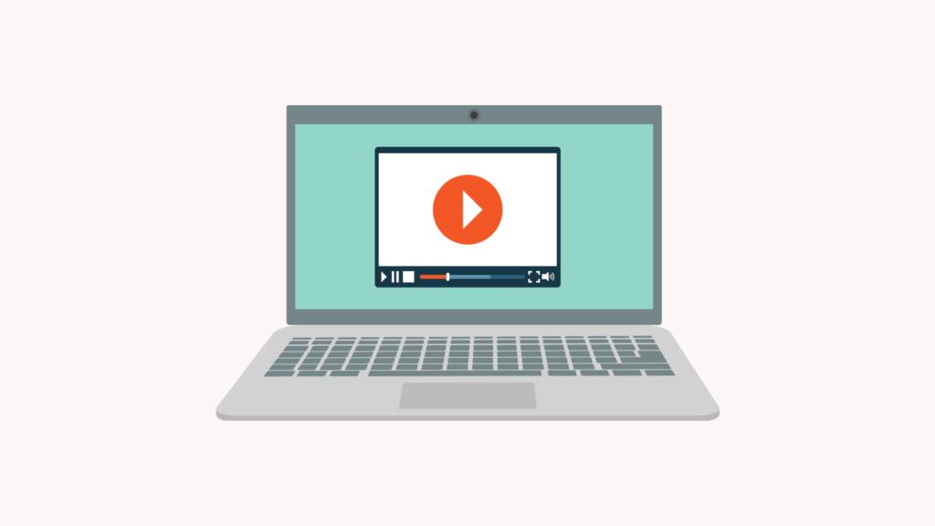 Image Showing Video Playing on Laptop