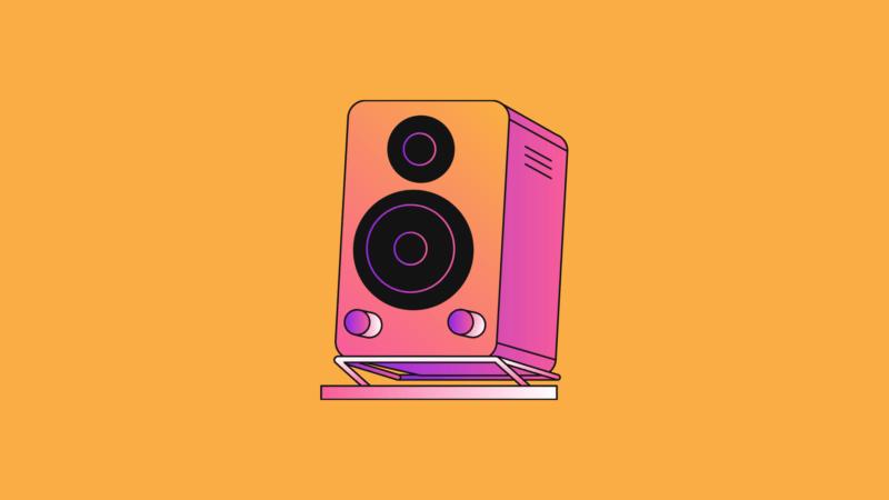 image showing speaker illustration