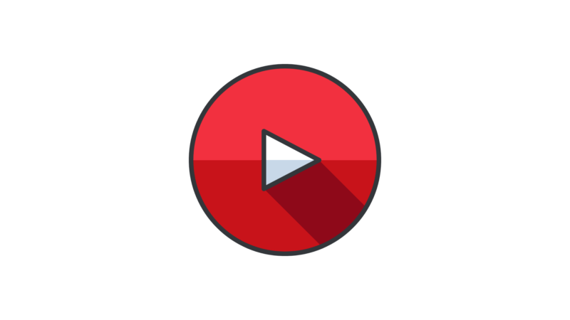 image showing Red play Button